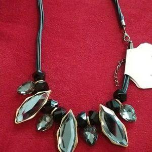 Rhinestone water drop necklace